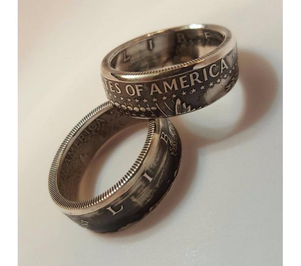 Kennedy Half Dollar Silver Coin Ring