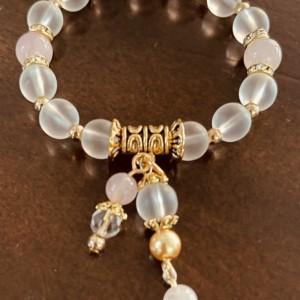 """Healing"" Charm Stretch Gemstones Crystal Bracelet"