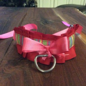 Discounted! Pleated pet play collar