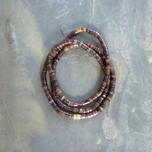 Shiny Brown Gold Penshell Heishi Bracelet