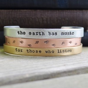 The Earth Has Music Cuff Set