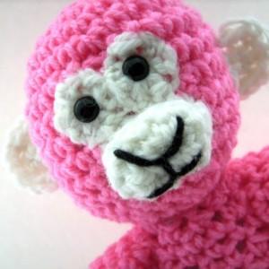 Crochet Pink Monkey Plush Toy