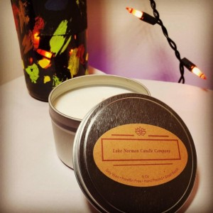 100% Soy, Light Lavender Scent, Hand Poured, Small Batch, 8 Oz, Tin Candles