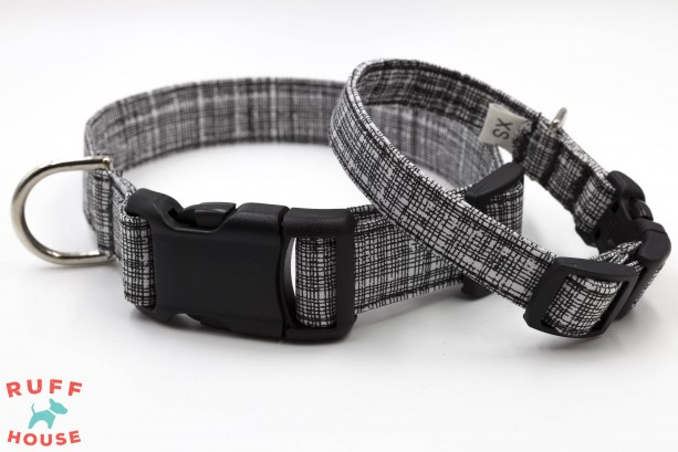 Preppy dog collar, medium dog accessories, modern dog collar, dog gift, dog mom gift, fabric dog collar, best selling items, black lab gifts