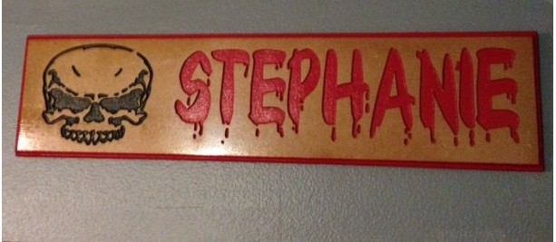 "Personalized MDF  Name Sign Custom Routed and Painted 6"" x 24"""