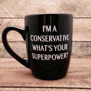 Conservative Superpower 12 ounce stoneware coffee mug