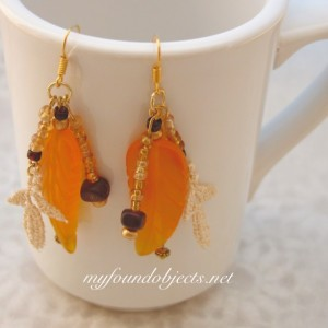 Golden Harvest Beaded Earrings