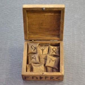 Handcarved Elder Futhark Rune Set - Norse - Viking - Pyrography - Pagan - Asatru