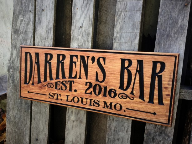 Bar sign - Pub sign Personalized - Bar decor - Rustic - Custom sign - Man cave gift for him - Groomsman gift