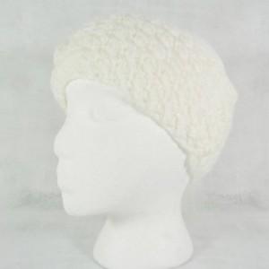 white headband - winter wedding headband - boho headband - bohemian headband - ear warmer - winter ear warmer - floral headband - flower