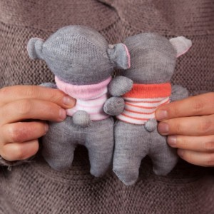 Sock Koala Bear Toy - Stuffed Animal Doll, Small Personalized Gift for Babies, Kids or Women, Soft and Handmade