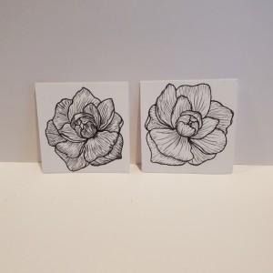 """2""""x 2"""" Mini Peony Watercolor"""
