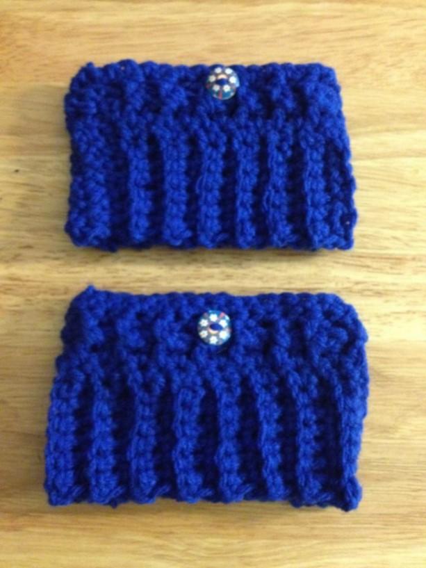 Crochet Boot Cuffs/Blue