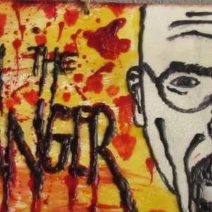 I Am The Danger - Portrait Encaustic Wax Art