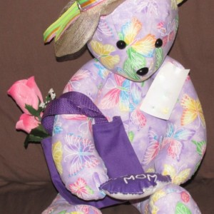 Lavender Butterfly Mother Teddy Bear
