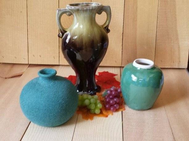 Vintage Style Vase Trio