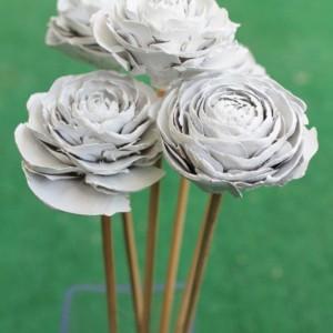 9 Customizable Hand-Painted Cedar Rose Pine Cone Flower Bouquet