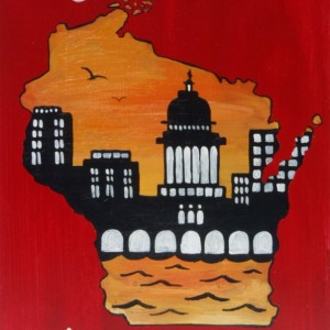 """Madison, Wisconsin 3"" original painting"