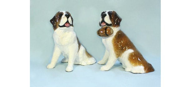 Saint Bernard Dog Figurine