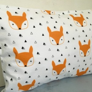READY TO SHIP fox pillow w/ insert included, cloud pillow, toddler pillow, baby pillow, fox pillow, pillow