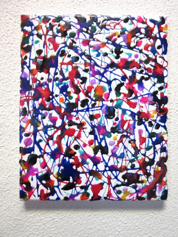 8 x 10 Splatter Art, Colorful Canvas Art, Abstract Acrylic Painting, 8 x 10 Wall Art, Original Modern Art, Contemporary Artwork on Canvas