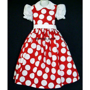 NEW Disney Minnie Mouse Red Dots Jumper Dress Custom Sz 12M-14Yrs