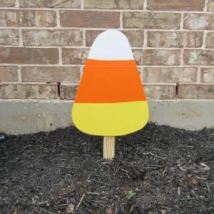 Candy Corn Yard Art, Halloween, Yard Art, Halloween Decor, Fall Decor