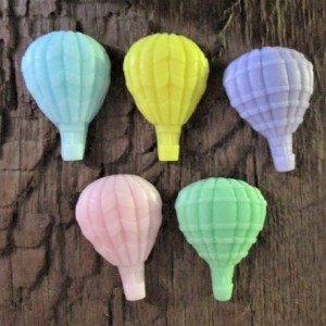 Five Hot Air Balloons Organic Shea Butter Soap Favors