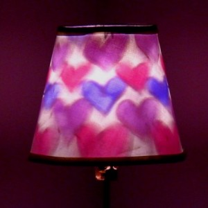 Hand-Painted Pink&Purple Heart Mood-Light Bulb