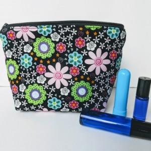 Floral Essential Oil Bag, Roller Ball Bag, Essential Oil Case, Essential Oil Storage, Gift for her