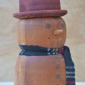 Solid Wood Snowman