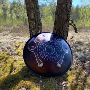 Handpan D-minor9 Custom design, Handmade percussion instrument