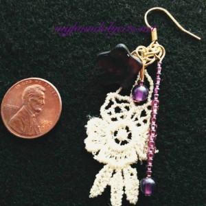 Amethyst Garden Lace Earrings