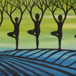 """Designer Yoga Forest 2"" original painting"