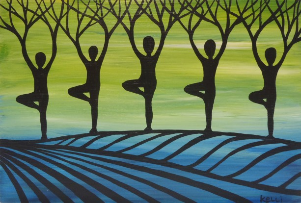 """""""Designer Yoga Forest 2"""" original painting"""