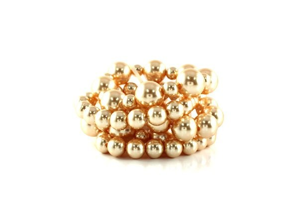 Quality Cream Color Pearl Stretch Bracelet