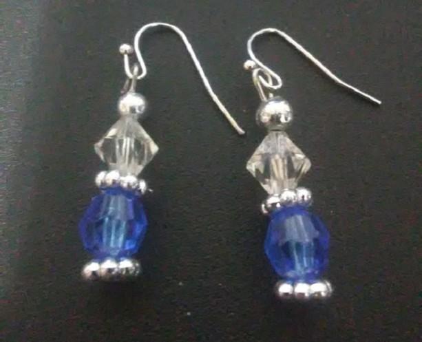 Blue Christmas Earrings