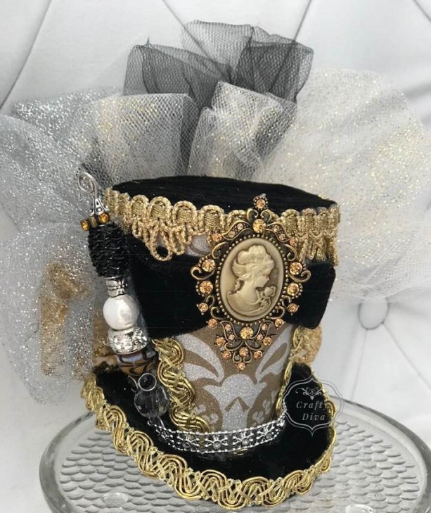 d79657e9 ... Cameo Mini Top Hat, Steampunk hat, Top hat, Victorian hat, Mad Hatter