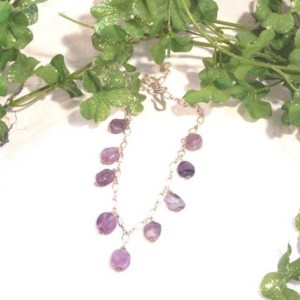 Fairy Amethyst Nuggets Sterling Silver Necklace