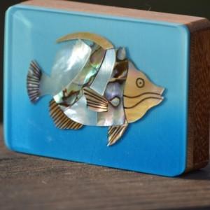 Natural Wood & Shell Gift Box