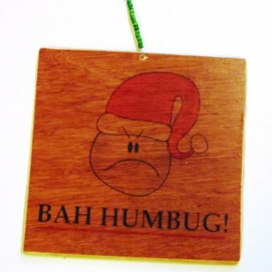 Christmas Handmade wooden reversible decoration/sign with beaded hanger