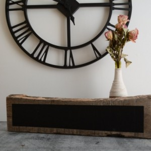 Reclaimed Railroad Wood Chalkboard Block