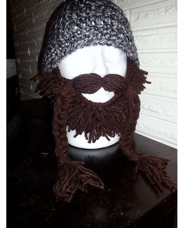 Beard face warmer (only) fits any crochet hat