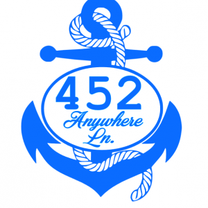 Address Anchor Decal