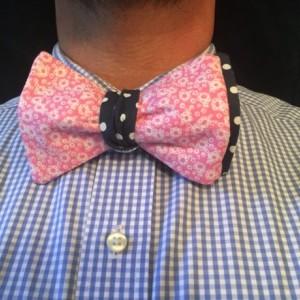 Polka dot bow tie, diamond bow tie, pink flower bow ties, self tie bow ties, reversible bow ties, wedding accessories, groomsmen ties