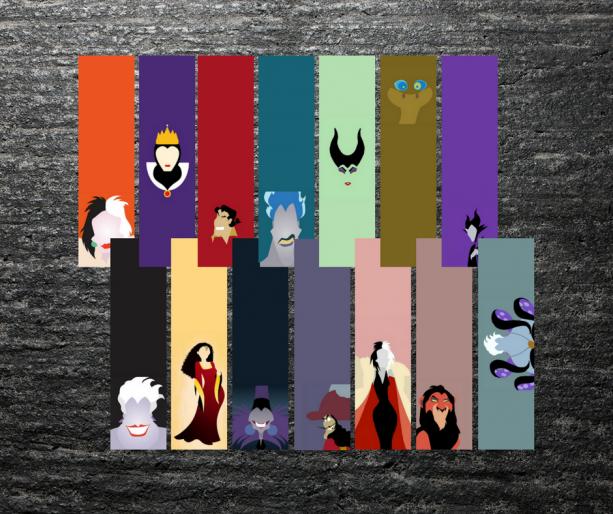 Disney Villains Bookmarks