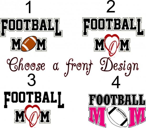 ca1e102272a ... Custom Ladies Football Jersey with Glitter for Football Mom Homecoming Jersey  shirt Football Mom School Spirit