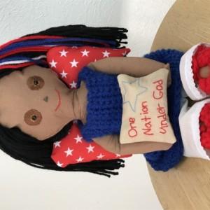 Patriot angel doll