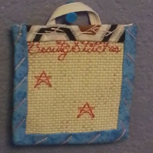 BeautyStitches Coaster Designs: Stars (bordered)