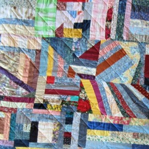 "Carol's Crazy Quilt Multi-colored Full Size 100"" x 84"""